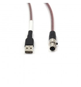 XLR5pin male  plug to type c  Cable TPU wire add  PP nylon and PETsheath