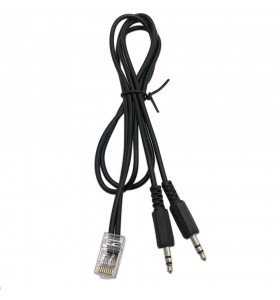 RJ45 to 2 3.5mm stereo male splitter cable