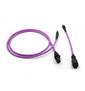 5PIN male GX16 Aviation plug to Type-c Spring and usb to 5pin gx16  female wire cable set
