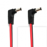 2.1mm Male Right Angle Plug DC Connector Red Black Power Cable