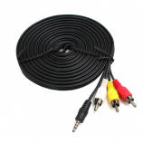 3 RCA to 3 RCA av rca cable for cctv cable 10ft male female aux cable