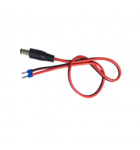 dc 5521male tuning fork to terminal E type wire red black power cable
