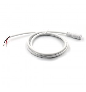 dc5.5*2.1mm female with lock to open waterproof white cable
