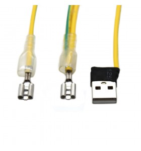 250 type terminal to usb male and 250 male terminal wire