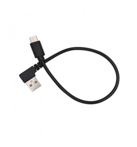 USB angle male to Type-c male charger cable