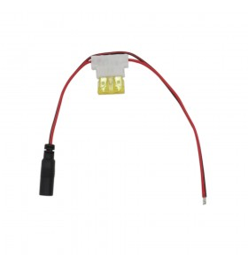 dc5.5*2.1 mm female to open wire with 3A fuse Monitoring equipment