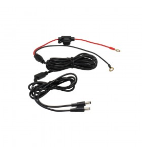 Two O-ring black red with 10A fuse to Y splitter dc5521 male power charger