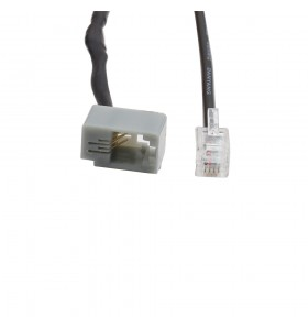 best selling RJ 11 4pin male to female cable  black pvc Telephone cable