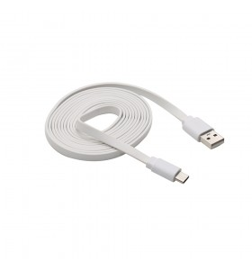 USB to Type-c data flat white color cable Electronic devices power or transmit data