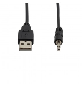 USB to 3.5mm mono male cable  Automobile AUX audio conversion cable