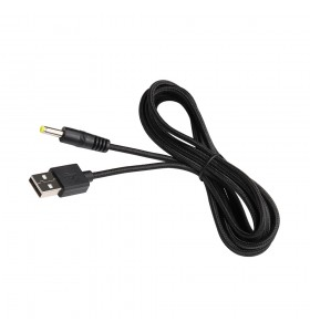 usb to dc4.0*1.7mm male  braid cable  24AWG OD3.2mm