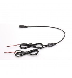best selling  dc5521 female to 2 bare splitter black cable  heat-resistant